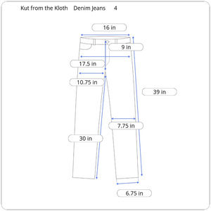 Jeans - Kut from the Kloth Denim Jeans Size 4